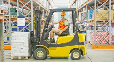 Forklift driver that got forklift training in Calgary